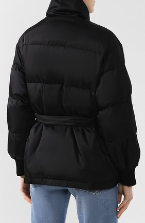Пуховик с поясом Stella McCartney черная | Фото №4