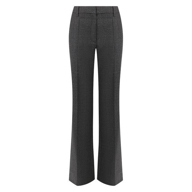 Расклешенные брюки из шерсти Valentino. Цвет: серый