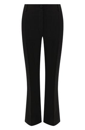 Брюки из смеси шерсти и шелка Valentino черные | Фото №1