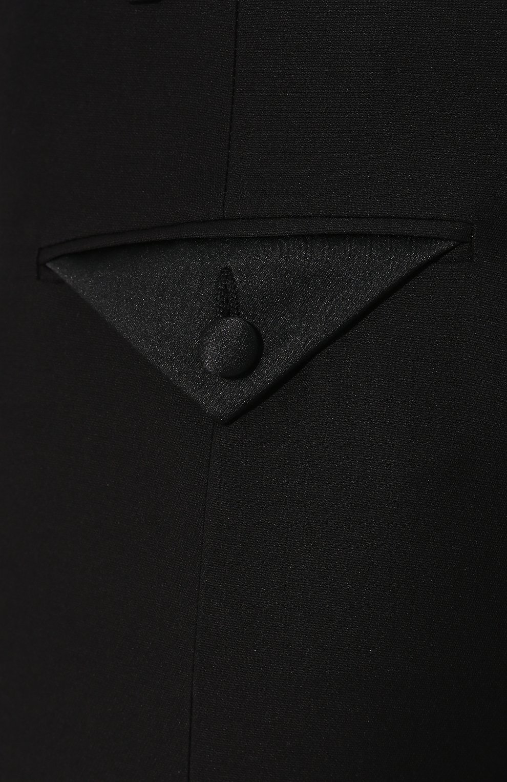 Брюки из смеси шерсти и шелка Valentino черные | Фото №5