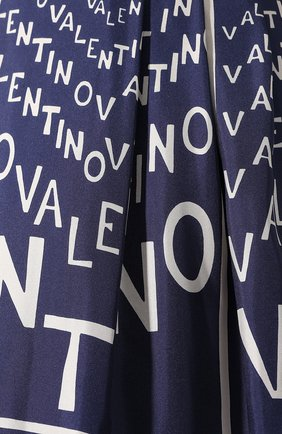 Шелковая юбка Valentino синяя | Фото №5