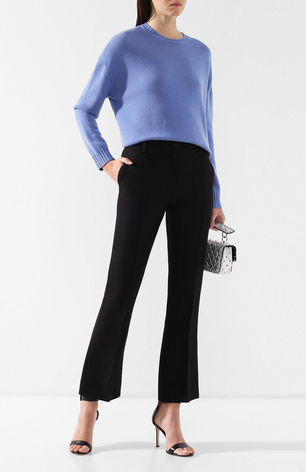 Кашемировый пуловер Valentino голубой | Фото №2