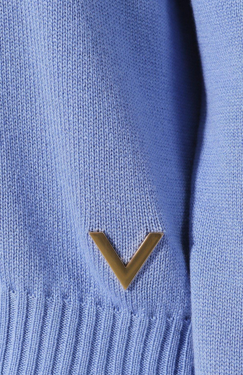 Кашемировый пуловер Valentino голубой | Фото №5