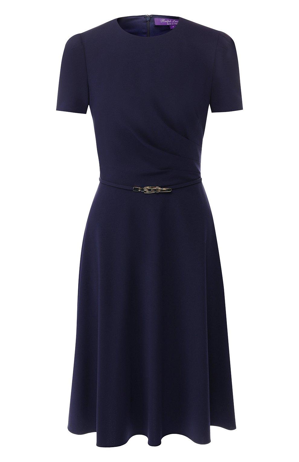 Шерстяное платье Ralph Lauren синее | Фото №1