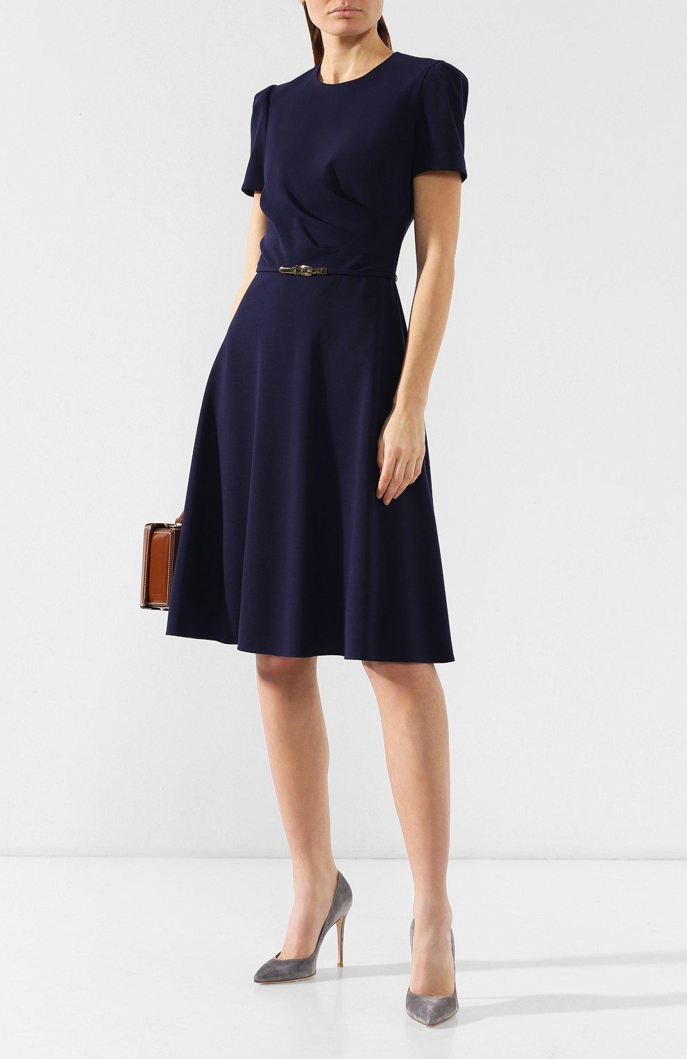 Шерстяное платье Ralph Lauren синее | Фото №2