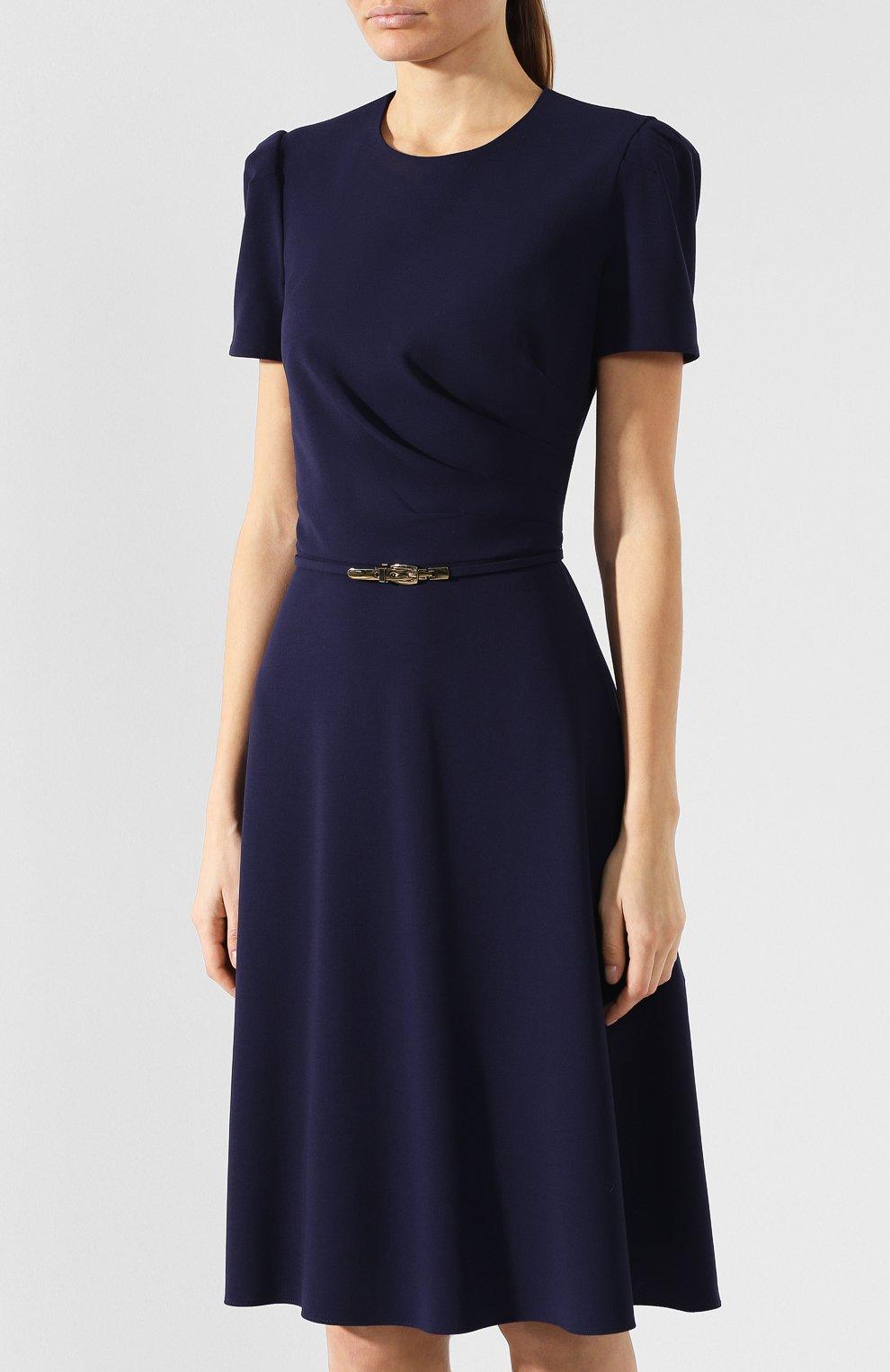 Шерстяное платье Ralph Lauren синее | Фото №3