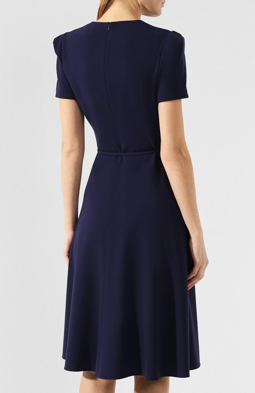 Шерстяное платье Ralph Lauren синее | Фото №4
