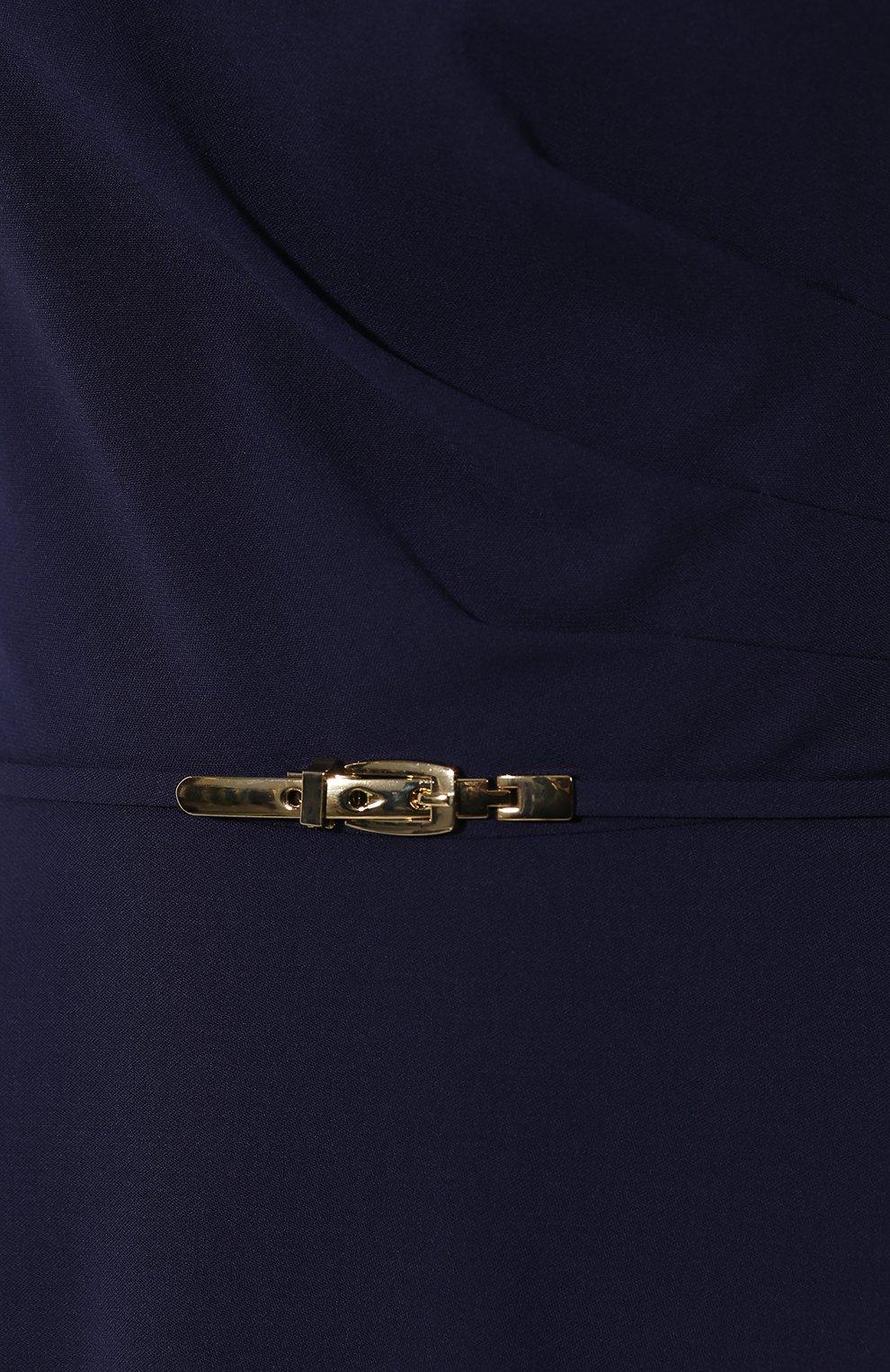 Шерстяное платье Ralph Lauren синее | Фото №5
