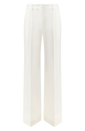 Шерстяные брюки Dolce & Gabbana белые   Фото №1