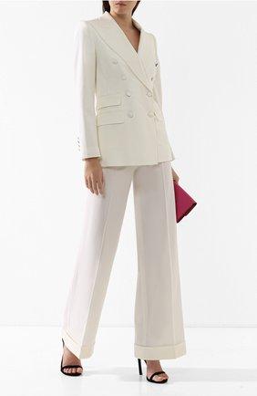 Шерстяные брюки Dolce & Gabbana белые   Фото №2