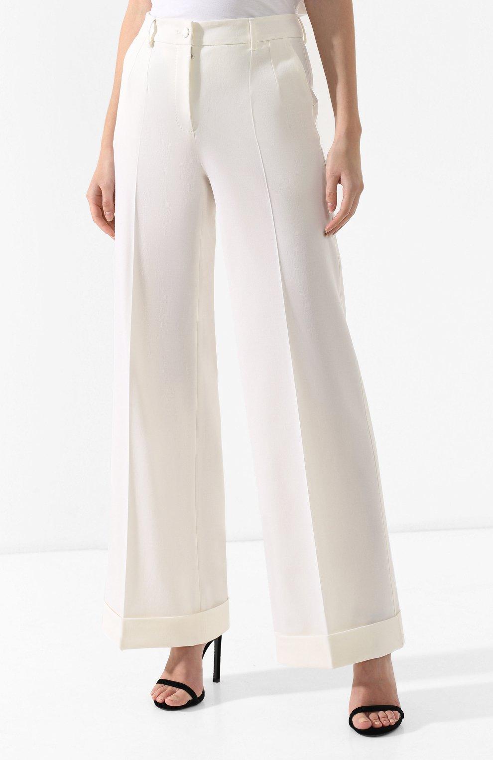 Шерстяные брюки Dolce & Gabbana белые   Фото №3