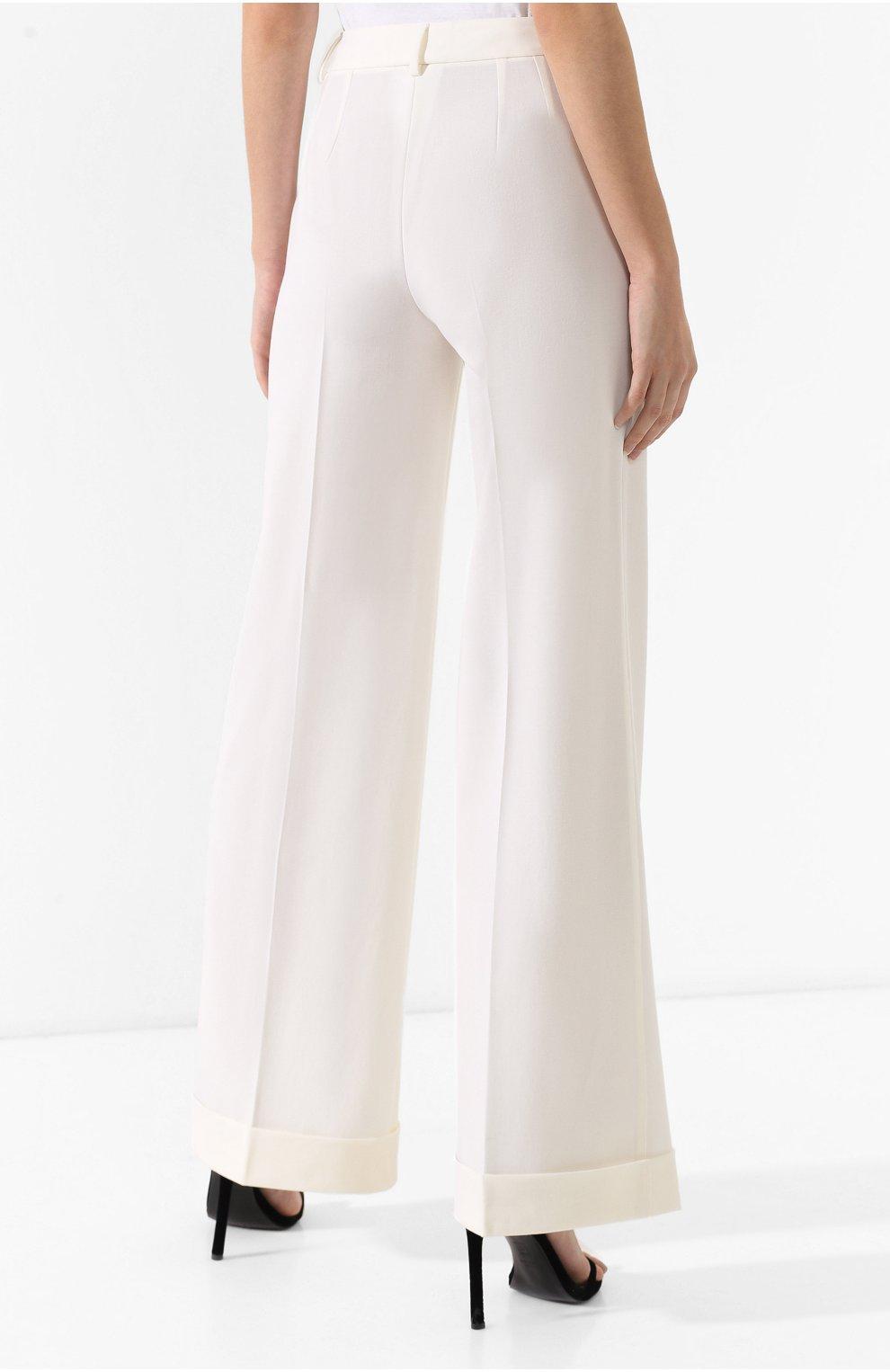 Шерстяные брюки Dolce & Gabbana белые   Фото №4