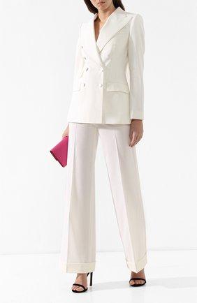 Шерстяной жакет Dolce & Gabbana белый | Фото №2