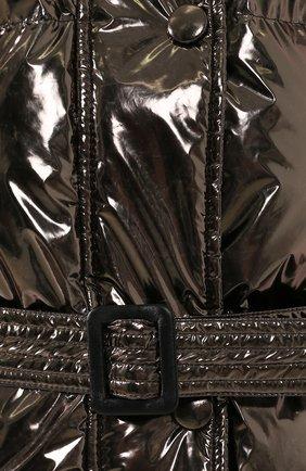 Пуховик с поясом IENKI IENKI темно-серая | Фото №5