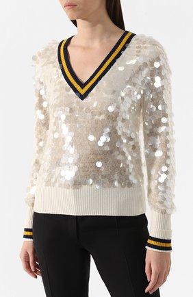 Шерстяной пуловер | Фото №3
