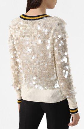 Шерстяной пуловер Escada Sport бежевый | Фото №4