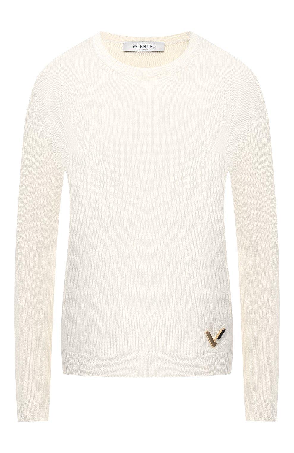 Кашемировый пуловер Valentino кремовый | Фото №1