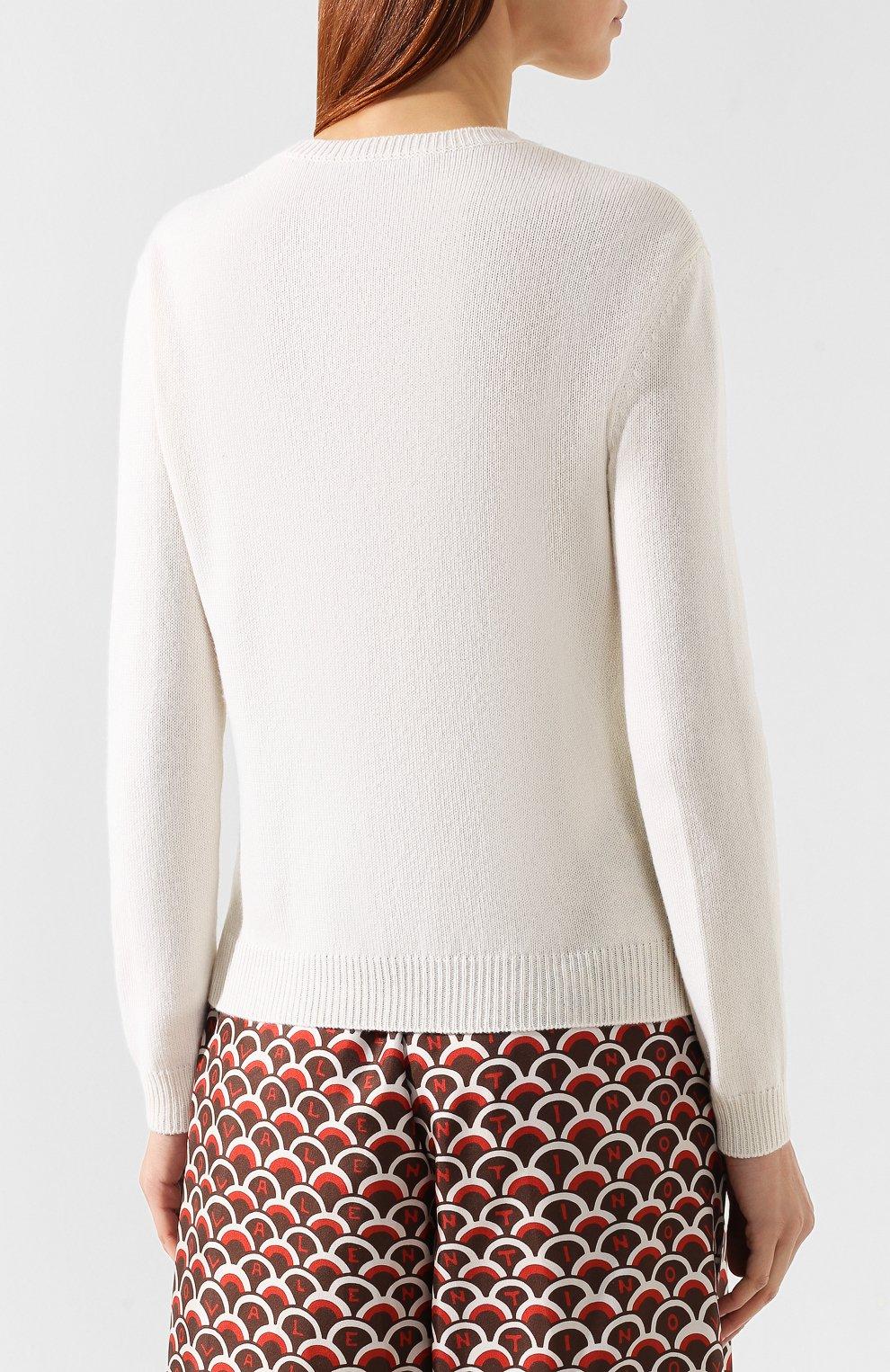 Кашемировый пуловер Valentino кремовый | Фото №4