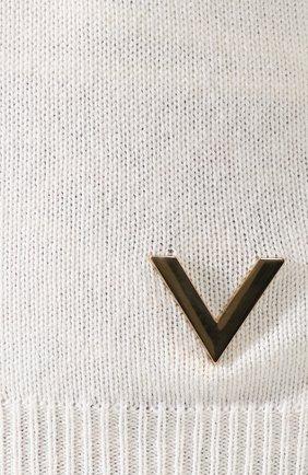 Кашемировый пуловер Valentino кремовый | Фото №5