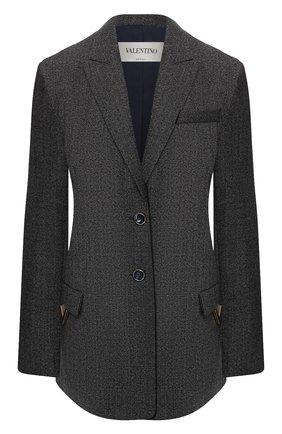 Шерстяной жакет Valentino темно-серый | Фото №1