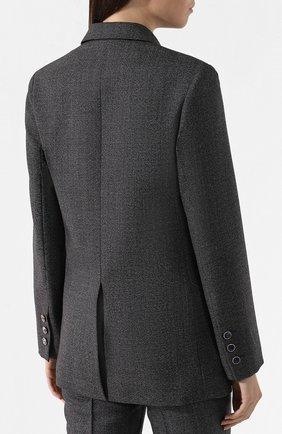 Шерстяной жакет Valentino темно-серый | Фото №4