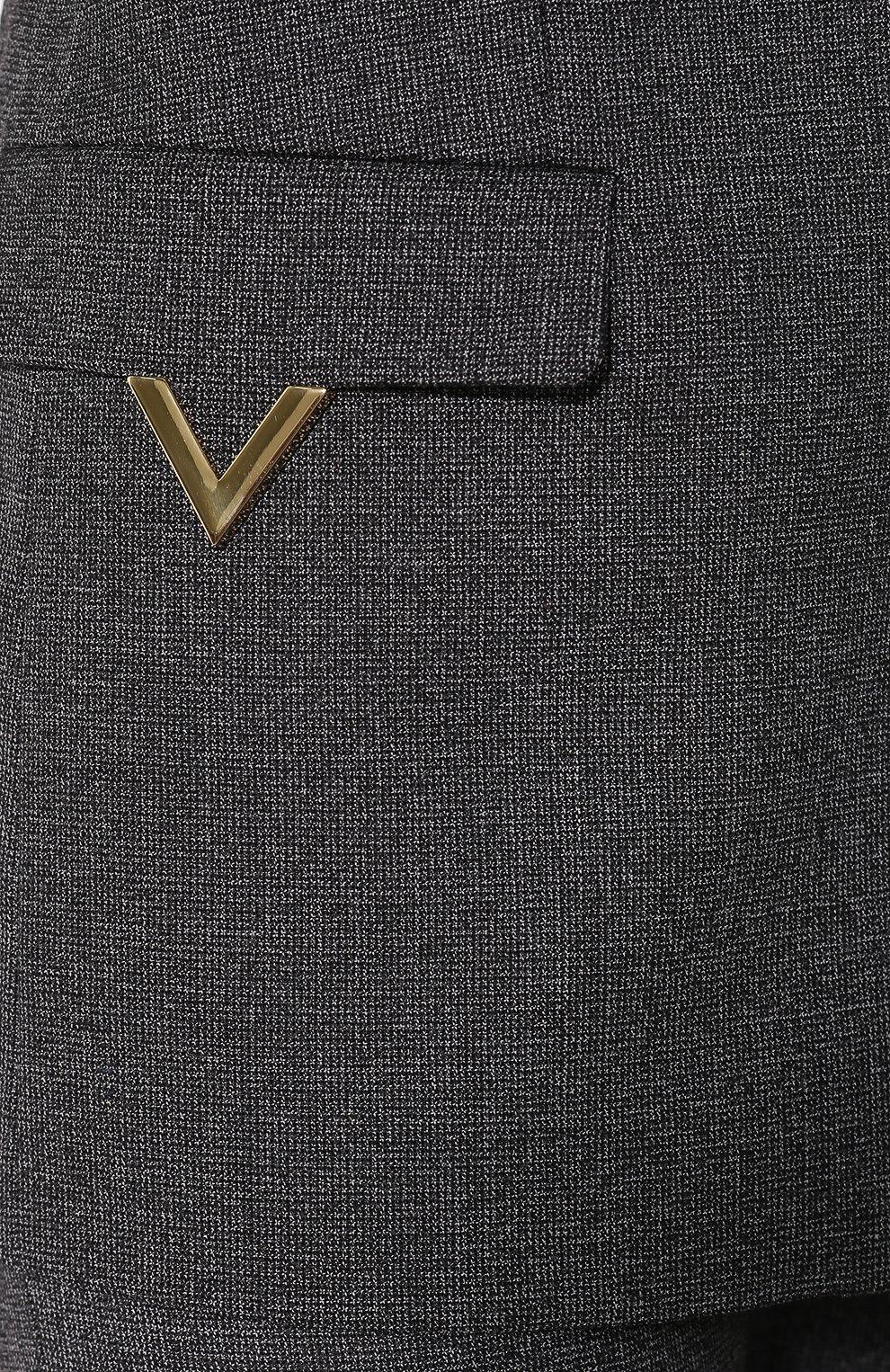 Шерстяной жакет Valentino темно-серый | Фото №5