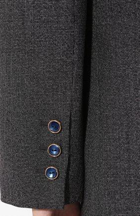 Шерстяной жакет Valentino темно-серый | Фото №6