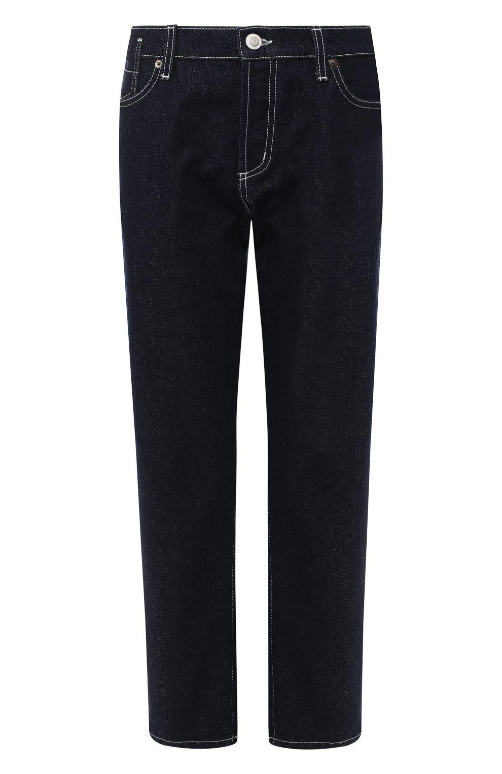 Укороченные джинсы Marni синие   Фото №1