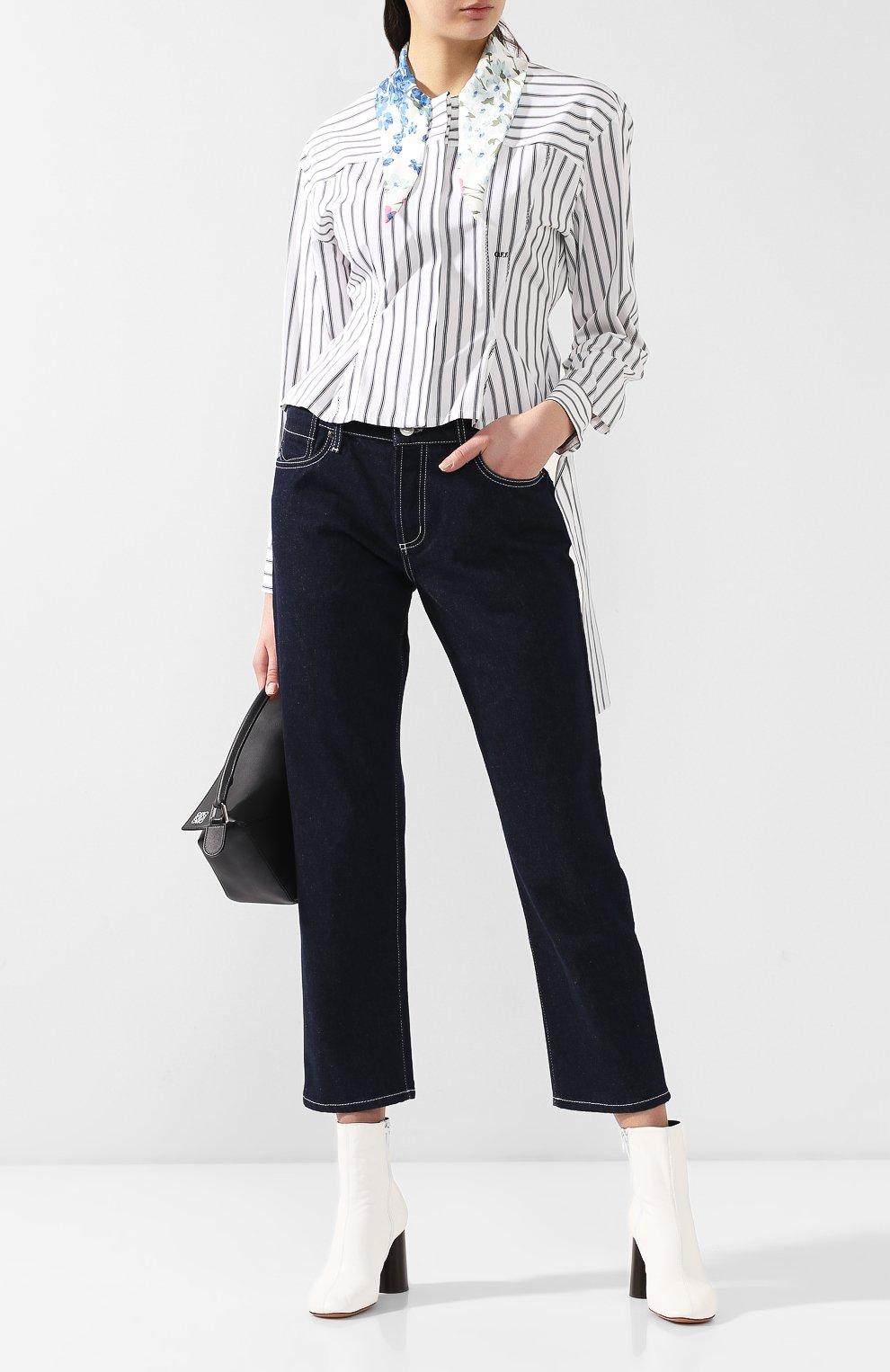 Укороченные джинсы Marni синие   Фото №2