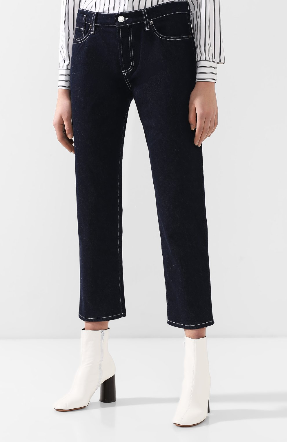 Укороченные джинсы Marni синие   Фото №3