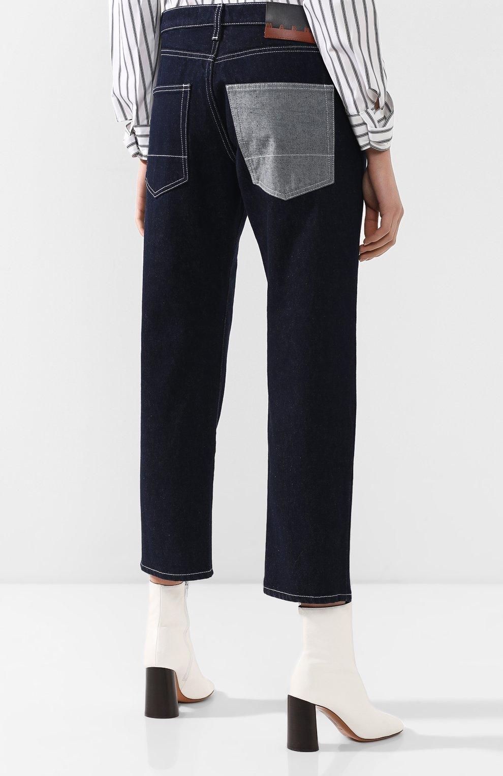 Укороченные джинсы Marni синие   Фото №4