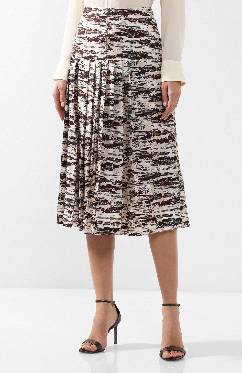 Шелковая юбка с принтом | Фото №3
