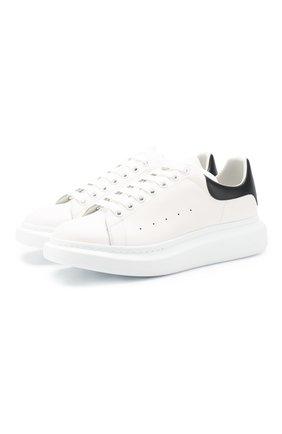 Мужские кожаные кеды ALEXANDER MCQUEEN белого цвета, арт. 553680/WHGP5 | Фото 1
