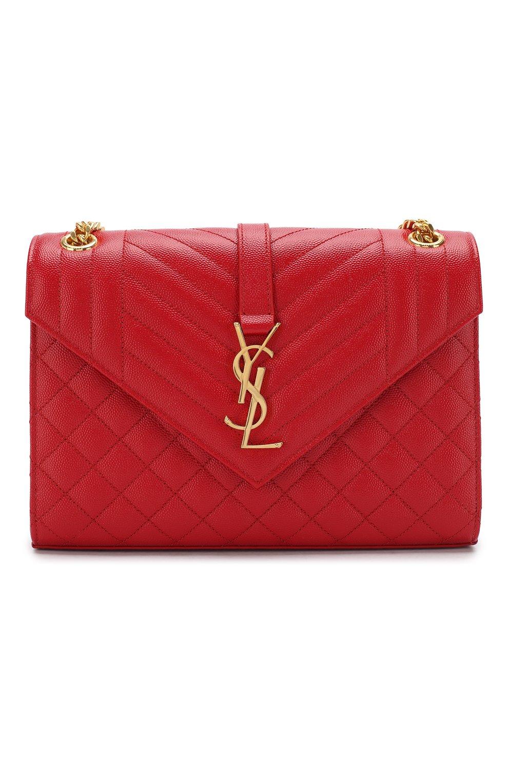 Сумка Classic Monogram medium Saint Laurent красная цвета | Фото №1