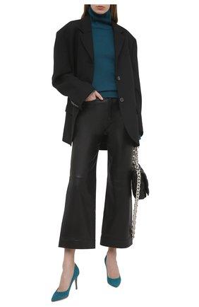 Женские замшевые туфли gianvito 85 GIANVITO ROSSI бирюзового цвета, арт. G24580.85RIC.CAMM0SC | Фото 2