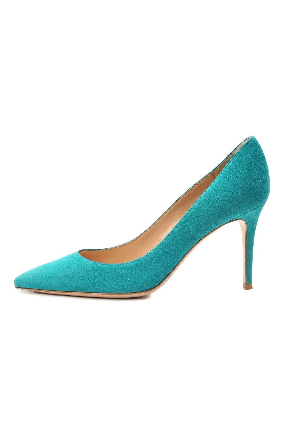 Замшевые туфли Gianvito 85 | Фото №3