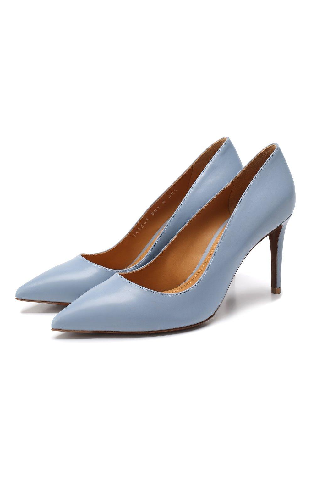 Кожаные туфли Armissa  Ralph Lauren голубые | Фото №1