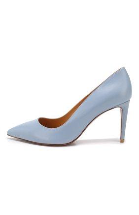 Кожаные туфли Armissa  Ralph Lauren голубые | Фото №3