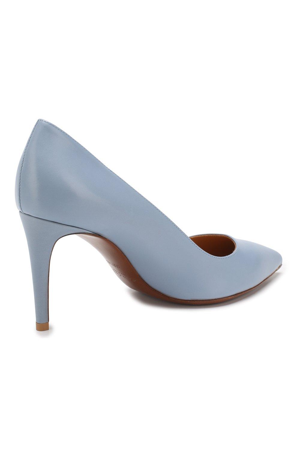 Кожаные туфли Armissa  Ralph Lauren голубые | Фото №4