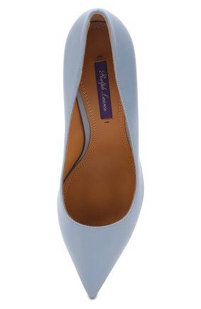 Кожаные туфли Armissa  Ralph Lauren голубые | Фото №5