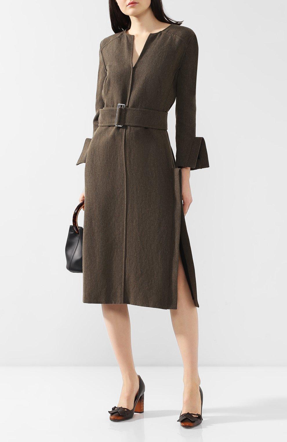Кожаные туфли Bottega Veneta темно-коричневые | Фото №2