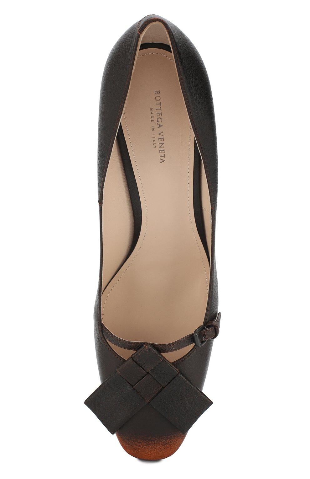 Кожаные туфли Bottega Veneta темно-коричневые | Фото №5