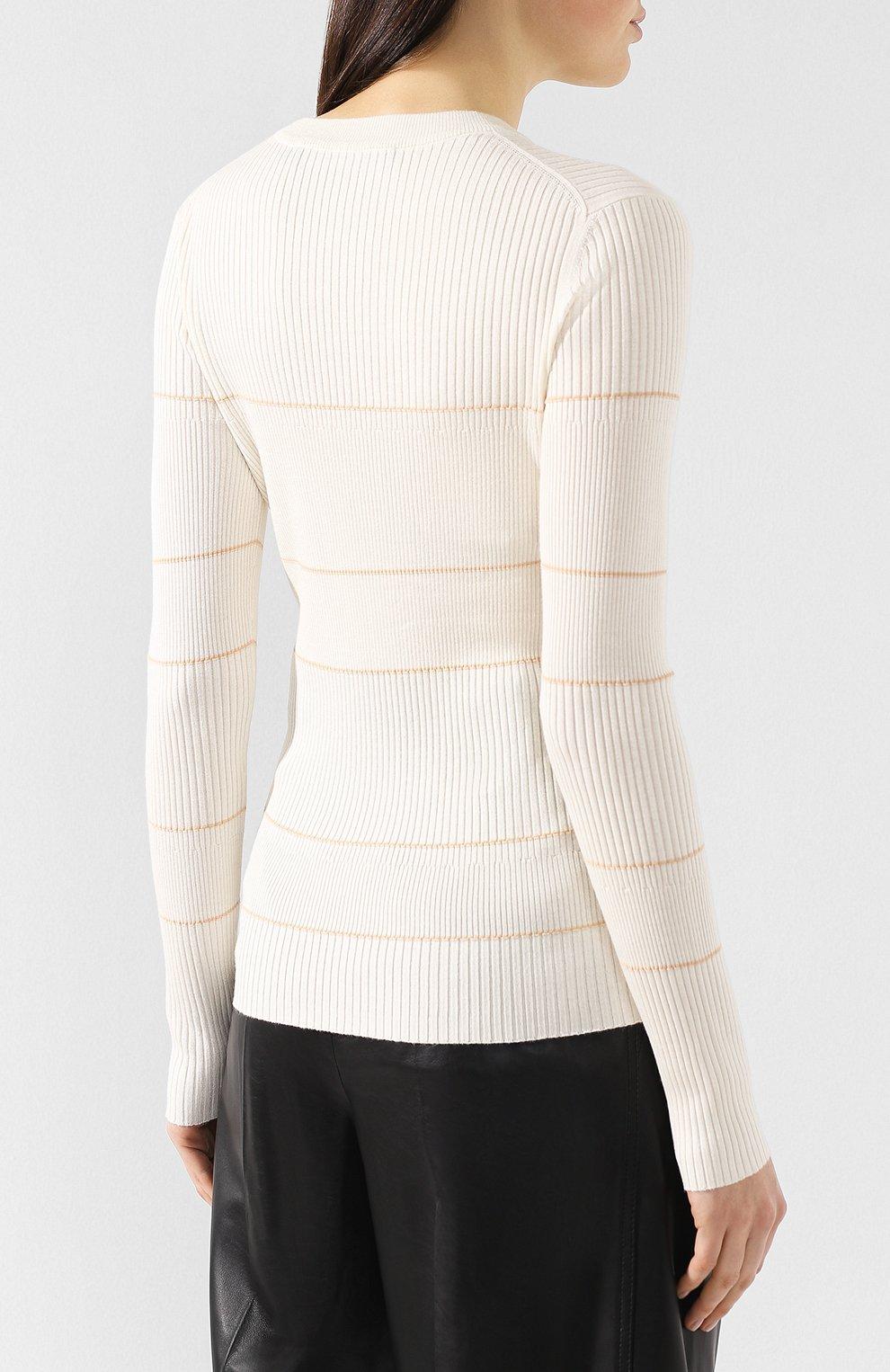 Пуловер из смеси шелка и кашемира   Фото №4