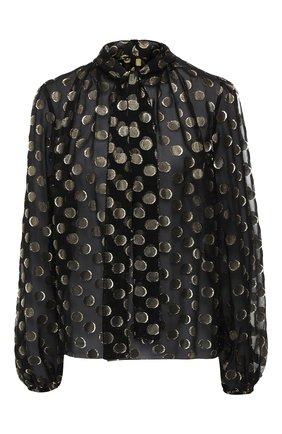 Шелковая блузка Dolce & Gabbana золотая | Фото №1