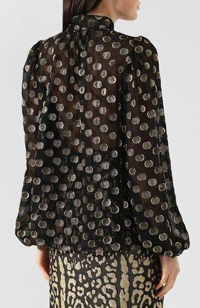 Шелковая блузка Dolce & Gabbana золотая | Фото №4