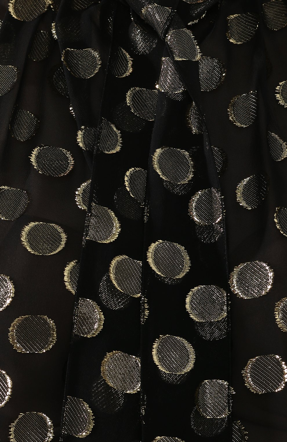 Шелковая блузка Dolce & Gabbana золотая | Фото №5