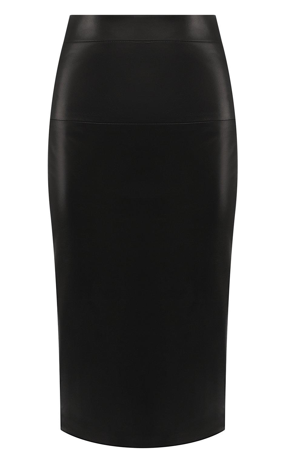 Кожаная юбка-карандаш | Фото №1