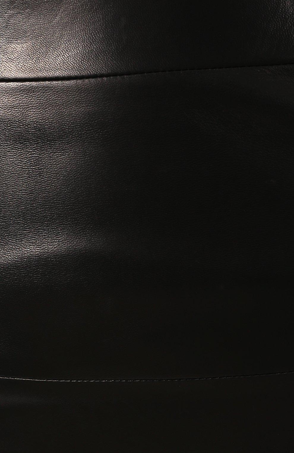 Кожаная юбка-карандаш | Фото №5
