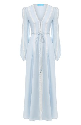 Льняное платье A Mere Co светло-голубое   Фото №1