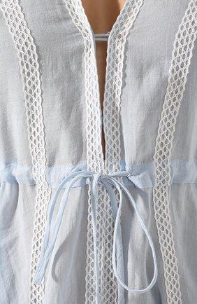 Льняное платье A Mere Co светло-голубое   Фото №5
